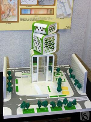 """Студенты """"технолога"""" представили выставку """"Взгляд архитектора"""""""